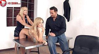 Interrogation gone threeway Brooklyn Lee Kathia Nobili HD Porn