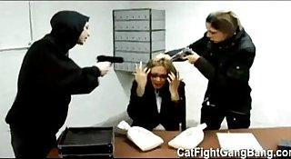 "Tori Lane in  "" The Bank Job"" Lesbian Gangbang"