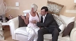 German Big Tit MILF Seduce to Fuck by Stranger