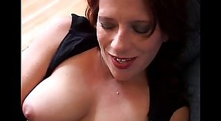Big tits MILF works her pussy