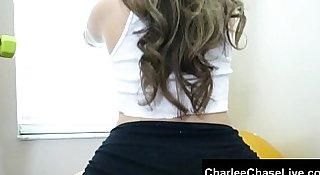Big tit Charlee Chase works out slut Carmen's big booty