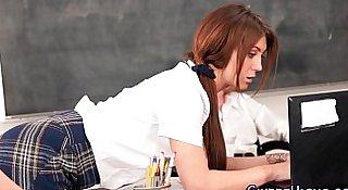 Jizzed highschool teen