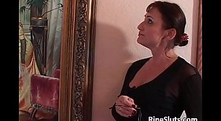 Old milf gets satisfied by some young